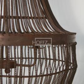 Kroonluchter pistache 120x55 cm (kettinkjes onderin kunnen los of gebundeld blijven
