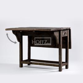 Hoffz hangoor tafeltje met lade maat 90x115x77