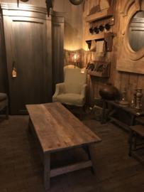 Salontafel oud hout prachtig doorleefd maat 120x50x45