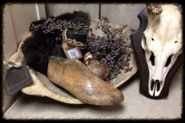 Oude houten schoenleest
