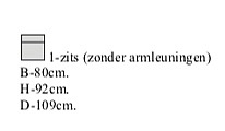 1 zits zonder armleuning 80 cm breed
