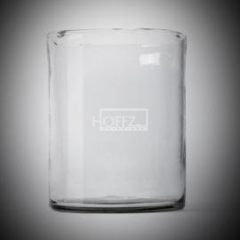 Windlicht helder glas Dia. 18 x H 23
