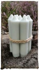 Kaarsen 7 stuks kleur grijs 11 cm