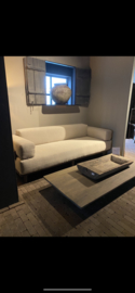 Sofa Boti maat 220 cm stof licht betreft showmodel foto 1