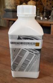 1 liter zeer matte vernis 15-20 m2 / 1 laag  (bescherming voor over de kalkverf)