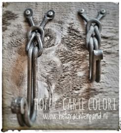 Knoop ophang haak Hoffz 17x5 cm (linkerhaak foto)
