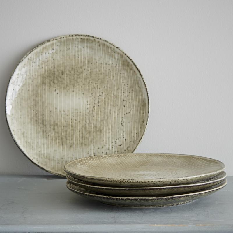 Nordic Sand desert/ lunch bord 20 cm doorsnede x2,2 cm