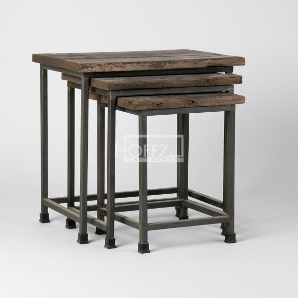 Hoffz bijzet tafeltjes (3 stuks) 56 hoog, 52 hoog en 46 hoog