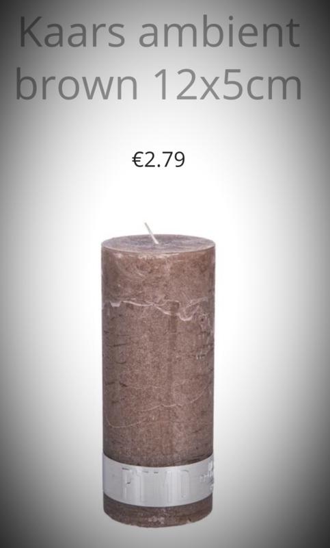12x5 cm kaars ambient in de kleur Lichtgrijs/ Donkergrijs/ Bruin of Zwart