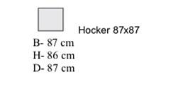 Hocker 87x87