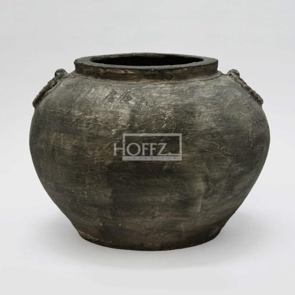 Kruik M antique black Dia 40.5 x H28.5 cm  (ALLEEN VOOR RESERVEREN IS MOGELIJK OPHALEN IN DE WINKEL)