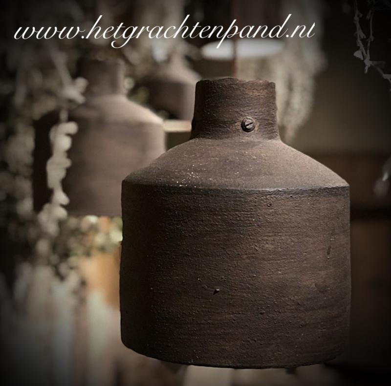 1928 Hoffz Hanglamp keramiek Dusty Brown H 18x16