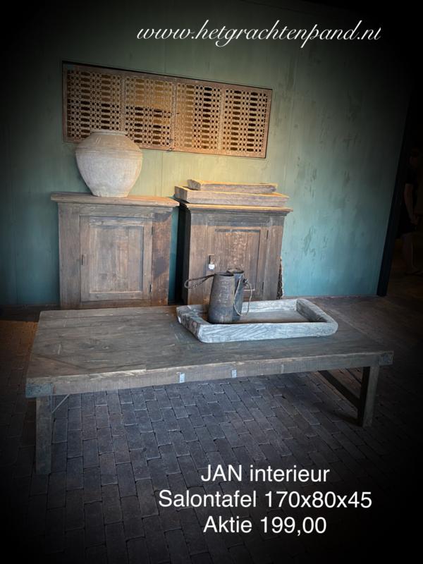 Jan Interieur Salontafel oud hout  170-184 x80x45 AKTIE