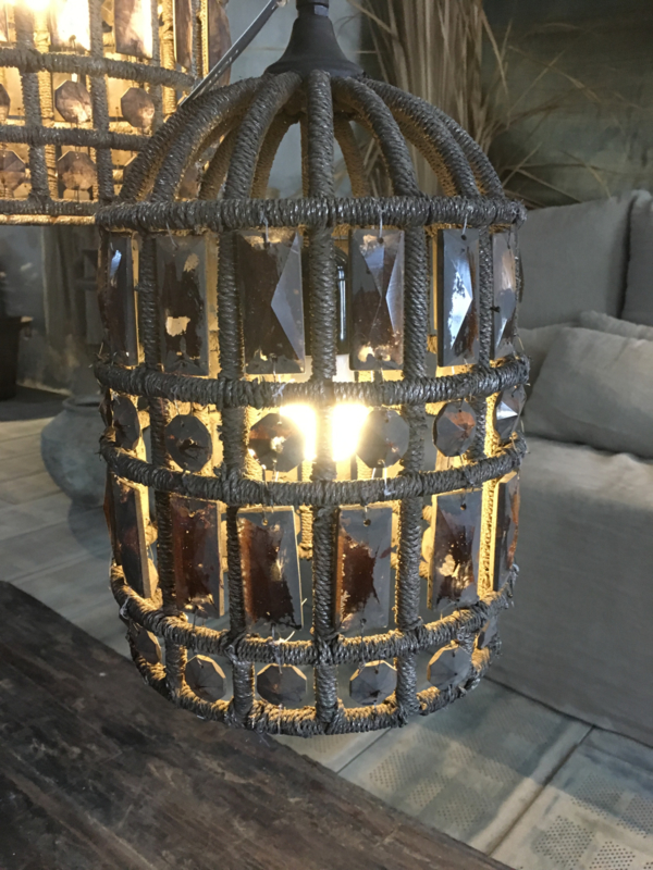 Hoffz hanglamp Zardosi maat  29x20 kleine maat (nw collectie)