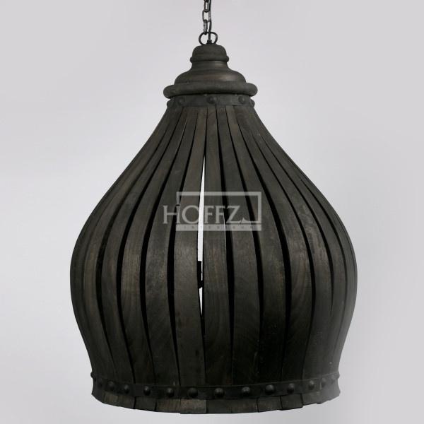 Kroonluchter Black dome dusty black 90x50