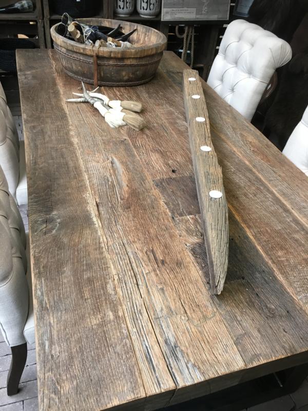 Wonderlijk Oude eiken planken 7 cm! Tafel 200x100 met ijzeren u poot | Het TD-16