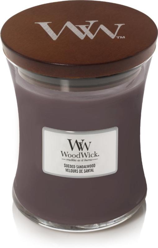 Woodwick Medium Candle Sandal Wood (kalmerende geur)