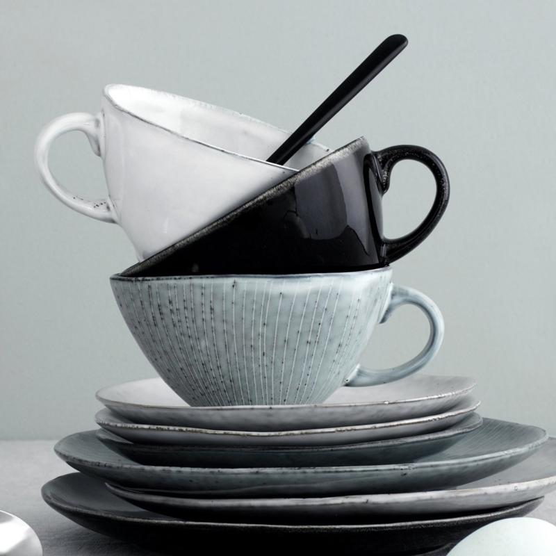 Broste Copenhagen Servies.Nordic Sea Thee Cappuccino Kop Met Schotel 14x8 8 Broste