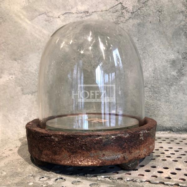 Glazen stolpje klein rusty 13x14