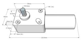 Elektromotor set 15W; 0 - 110 omw/min