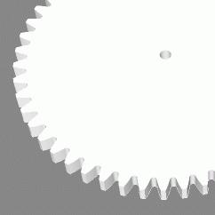 Module 1; 3mm hoog; 50 tanden