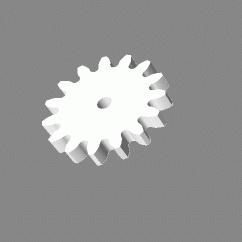 Module 1; 3mm hoog; 15 tanden