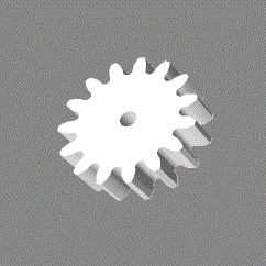 Module 1; 6mm hoog; 15 tanden