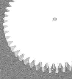 Module 1; 6mm hoog; 50 tanden