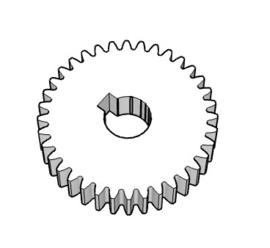 Tandwiel M2; 36 tanden; 20mm breed