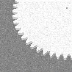 Module 2; 3mm hoog; 50 tanden
