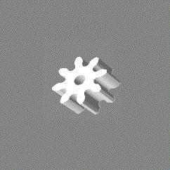 Module 1; 6mm hoog; 8 tanden