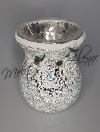 Silver Crackle Small