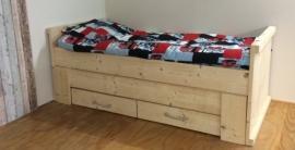 Kinderbed steigerhout Wesley 90 x 200 cm