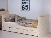 Kinderbed  steigerhout Laurens XTRA  90 x 200 cm
