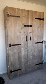Steigerhouten Kledingkast Rens 110 x 200 x 60 cm