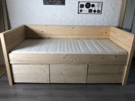 Steigerhouten bedbank Maaike - 90 x 200 cm