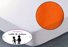 Hoeslaken Dreamzzz 90x200cm badstof oranje