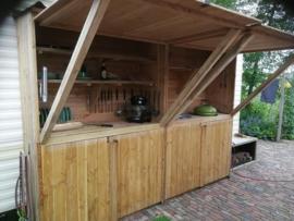 Buitenkeuken van douglas hout