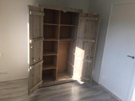 Steigerhouten Kledingkast Jan-Julius (2 deurs) 110 x 200 x 60 cm