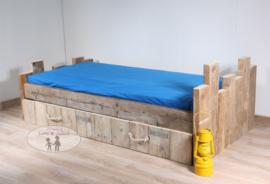 Kinderbed  Steigerhout  Robuust - 90 x 200 cm