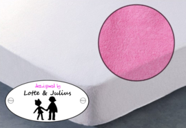 Hoeslaken Dreamzzz 90x200cm badstof roze