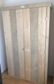 Steigerhouten Kledingkast Bicolor (2 deurs) 200 x 100 x 60 cm