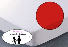 Hoeslaken Dreamzzz 90x200cm badstof rood