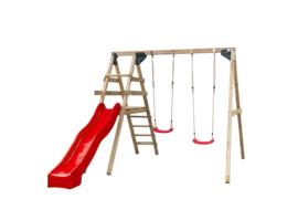 Speeltoestel Celina met rode glijbaan