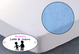 Hoeslaken Dreamzzz 90x200cm badstof lichtblauw