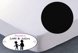 Hoeslaken Dreamzzz 140x200cm jersey zwart
