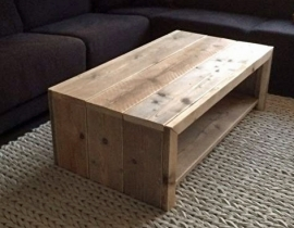 Salontafel Simply, diverse soorten hout! 67x120x45