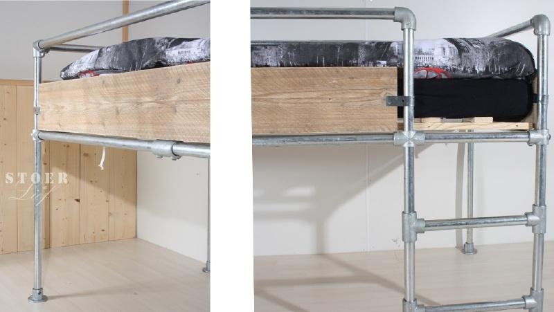 Halfhoogslaper Steigerbuis Scaffold 90 X 200 Cm