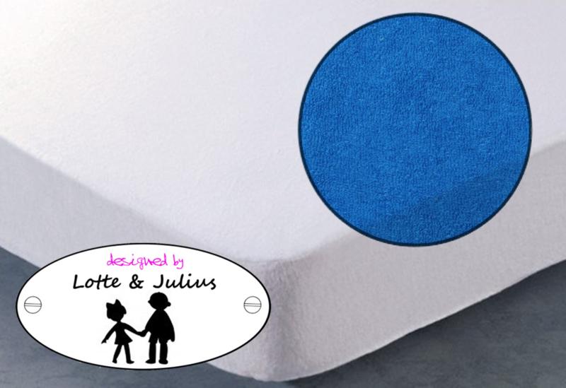 Hoeslaken Dreamzzz 90x200cm badstof blauw