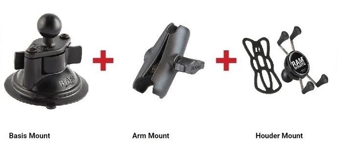 RAM - X-Grip set - Auto